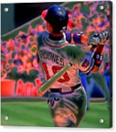 Chipper Jones Acrylic Print by Rod Kaye