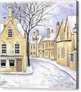 Chipping Campden In Snow Acrylic Print