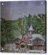 Chirch Near Gorno-altaisk  Acrylic Print