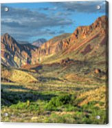 Chisos Mountains Of West Texas Acrylic Print