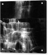 Chittenango Falls Bw Acrylic Print
