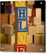 Chloe - Alphabet Blocks Acrylic Print
