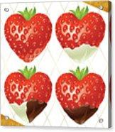 Chocolate - 7  Strawberry Acrylic Print