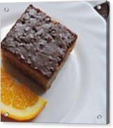 Chocolate And Orange Acrylic Print