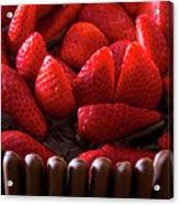 Chocolate And Strawberry Cake Acrylic Print