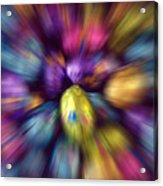 Chocolate Easter Eggs With Zoom Effect Acrylic Print