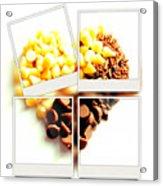 Chocolate Heart Mosaic Acrylic Print