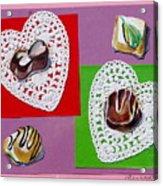 Chocolate Hearts Acrylic Print