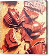 Chocolate Tableware Destruction Acrylic Print
