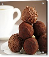 Chocolate Truffles And Coffee Acrylic Print