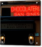 Chocolateria Acrylic Print