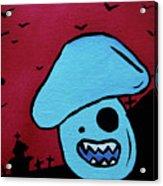 Chomping Zombie Mushroom Acrylic Print by Jera Sky