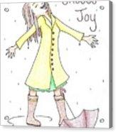 Choose Joy Woman Acrylic Print
