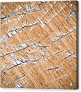 Chopped Up Veneered Wood Board Acrylic Print