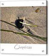 Chopsticks Acrylic Print by Peter Tellone