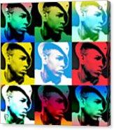 Chris Brown Warhol By Gbs Acrylic Print by Anibal Diaz