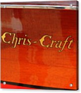 Chris Craft Logo Acrylic Print by Michelle Calkins