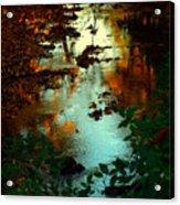 Chris' Creek Autumn Sunset Acrylic Print