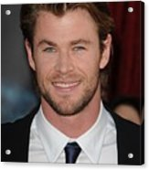 Chris Hemsworth At Arrivals For Thor Acrylic Print