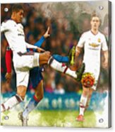 Chris Smalling  In Action  Acrylic Print