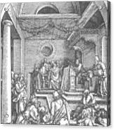 Christ Among The Doctors In The Temple 1503 Acrylic Print