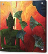 Christ And Buddha Acrylic Print by Paul Ranson