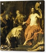 Christ And The Penitent Sinners Acrylic Print
