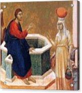Christ And The Samaritan Woman Fragment 1311 Acrylic Print
