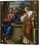 Christ And The Woman Of Samaria Acrylic Print
