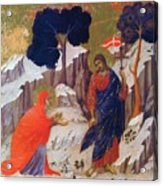 Christ Appearing To Mary 1311 Acrylic Print