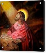 Christ At Gethsemane Acrylic Print