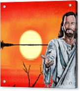 Christ At Sunrise Acrylic Print