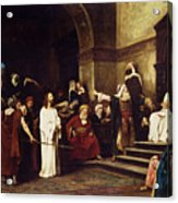 Christ Before Pilate Acrylic Print by Mihaly Munkacsy