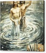 Christ Being Baptised Acrylic Print