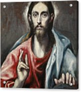 Christ Blessing, The Saviour Of The World Acrylic Print