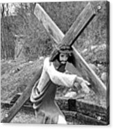 Christ Carrying Cross, Vadito, New Mexico, March 30, 2016 Acrylic Print