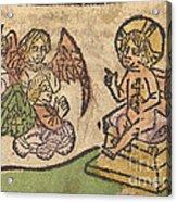 Christ Child With Three Angels Acrylic Print