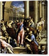 Christ Driving The Traders From The Temple 1576 Acrylic Print