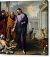 Christ Healing At Pool Of Bethesda Acrylic Print