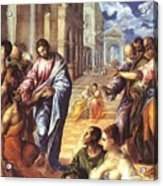 Christ Healing The Blind 1578 Acrylic Print