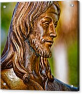 Christ In Bronze Acrylic Print by Christopher Holmes