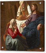 Christ In The House Of Martha And Mary Acrylic Print
