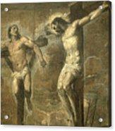 Christ On The Cross And The Good Thief Acrylic Print