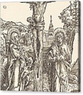 Christ On The Cross Between The Virgin And Saint John Acrylic Print