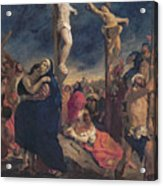 Christ On The Cross Acrylic Print by Delacroix