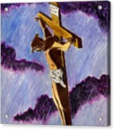 Christ On The Cross Acrylic Print by Michael Vigliotti