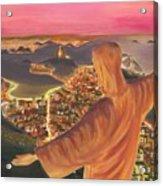 Christ Over Rio Acrylic Print