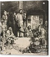 Christ Preaching (la Petite Tombe) Acrylic Print