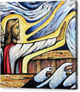 Christ Rebukes The Wind And Waves Acrylic Print
