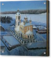 Christ Risen Church In Ples, Ivanovo Region Acrylic Print